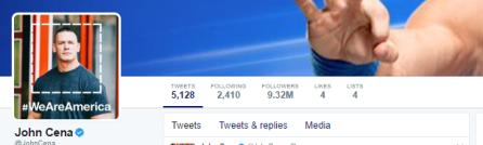 John Cena Twiter