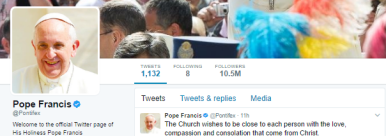 The Pope Twitter