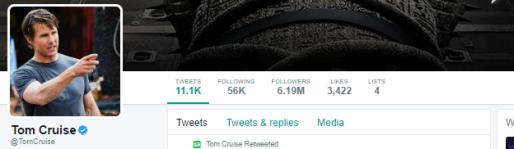 Tom Cruise Twitter